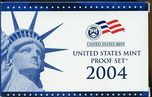 2004 S US PROOF MINT SET 10 COINS CLAD 20HWW0803 $2 SHIPPING