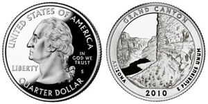 2010 S 25C ATB QUARTER GRAND CANYON GDC PROOF CN CLAD ROLL 50 CENTS SHIPPING