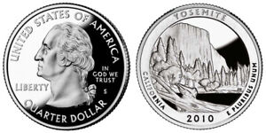 2010 S 25C ATB QUARTER YOSEMITE GDC PROOF CN CLAD ROLL 50 CENTS SHIPPING