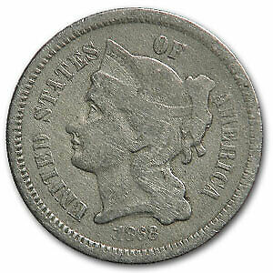 1868 3 CENT NICKEL VG   SKU40045
