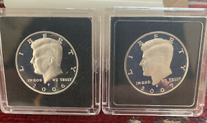 2006 S & 2007 S SILVER PROOF KENNEDY HALFS