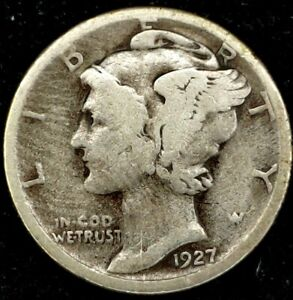 1927 S 10C MERCURY DIME 90  SILVER 20RR0816 50 CENTS SHIPPING