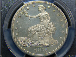 1875 T$1 PROOF TRADE DOLLAR PR 63CAM PCGS GREAT CAMEO COIN
