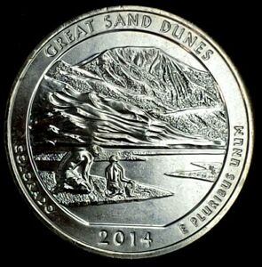 2014 S 25C ATB QUARTER GREAT SAND DUNES BU CLAD 20UO0327 2 70 CENTS SHIPPING