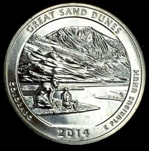 2014 S 25C ATB QUARTER GREAT SAND DUNES BU CLAD 20UO0327 3 70 CENTS SHIPPING