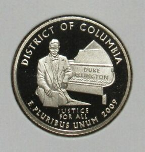 2009 S CLAD PROOF DISTRICT OF COLUMBIA QUARTER