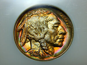 Click now to see the BUY IT NOW Price! 1926 D 5C BUFFALO NICKEL MS 66 NGC GREAT COLOR  TOUGH DATE