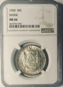 Click now to see the BUY IT NOW Price! 1920 MAINE COMMEMORATIVE SILVER HALF DOLLAR   NGC MS 66 MINT STATE 66