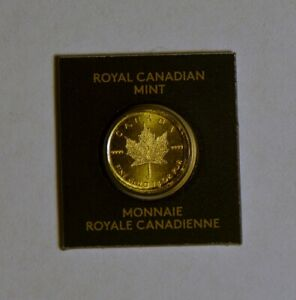 2015 CANADA MAPLEGRAM GOLD COIN SEALED IN THE ORIGINAL MINT PACKAGE