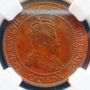 1910  CANADA  CENT   NGC MS 62 BN   NICE  COIN  437 18 14.