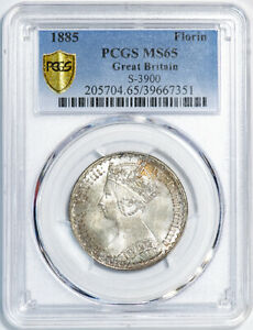 Click now to see the BUY IT NOW Price! 1885 FLORIN GREAT BRITAIN S 3900 PCGS MS65