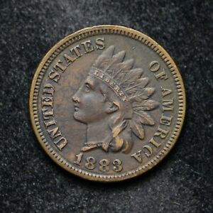1883 INDIAN HEAD CENT EF CLEANED  BB5110