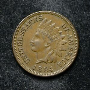 1884 INDIAN HEAD CENT EF  BB5117