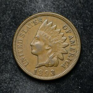 1893 INDIAN HEAD CENT XF    BB5123