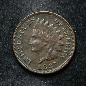 1887 INDIAN HEAD CENT XF CORROSION  BB5126