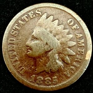 1885 P 1C INDIAN HEAD CENT 20LOW0917 70 CENTS SHIPPING