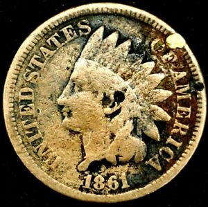 1861 P 1C INDIAN HEAD CENT SEMI KEY DATE 20RCT0920 70 CENTS SHIPPING