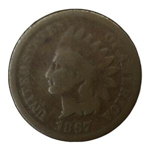 1867 1C INDIAN HEAD CENT CIRCULATED LOW GRADE