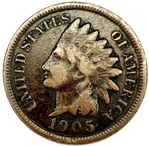 1905 P 1C INDIAN HEAD CENT 20LOR0817 1 70 CENTS SHIPPING