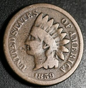1859 INDIAN HEAD CENT   GOOD