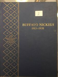 1913 1936 BUFFALO NICKEL COLLECTION   WHITMAN COIN ALBUM SEE DESCRIPTION