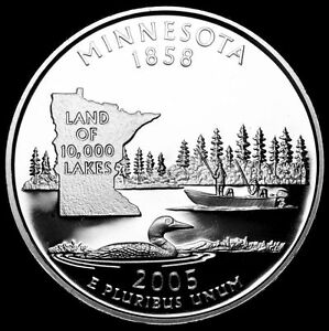 2005 S 25C STATE QUARTER MINNESOTA GDC PROOF CN CLAD 70 CENTS SHIPPING