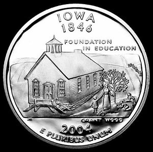 2004 S 25C STATE QUARTER IOWA GDC PROOF CN CLAD 70 CENTS SHIPPING