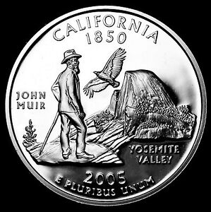 2005 S 25C STATE QUARTER CALIFORNIA GDC PROOF CN CLAD 70 CENTS SHIPPING