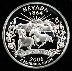 2006 S 25C STATE QUARTER NEVADA GDC PROOF CN CLAD 70 CENTS SHIPPING