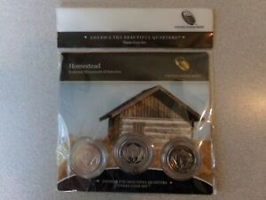 2015 HOMESTEAD NATIONAL MONUMENT OF AMERICA PDS MINT ATB THREE COIN SET
