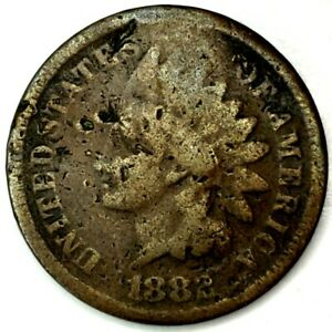 1882 P 1C INDIAN HEAD CENT 20LAO0706 70 CENTS SHIPPING