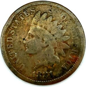 1881 P 1C INDIAN HEAD CENT 20OUT0201 70 CENTS SHIPPING