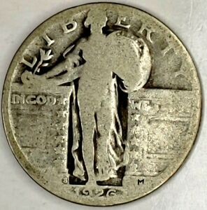 1926 S 25C STANDING LIBERTY QUARTER 90  SILVER 19UCU1124 70 CENTS SHIPPING