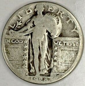 1928 S 25C STANDING LIBERTY QUARTER 90  SILVER 19SOC1124 70 CENTS SHIPPING