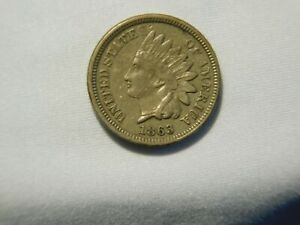 1863 INDIAN HEAD CENT 1 CENT