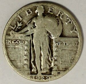 1929 P 25C STANDING LIBERTY QUARTER 90  SILVER 17STU2807 70 CENTS SHIPPING