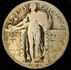 1928 S 25C STANDING LIBERTY QUARTER 90  SILVER 20STH0405 70 CENTS SHIPPING