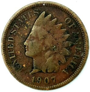 1907 P 1C INDIAN HEAD CENT 20HH0522 70 CENTS SHIPPING