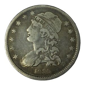 1835 NM 25C CAPPED BUST QUARTER REDUCED SIZE VF