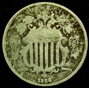 1866 P 5C SHIELD NICKEL  20CTH1017 70 CENTS SHIPPING