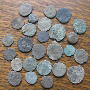 Click now to see the BUY IT NOW Price! 26 LOW GRADE UNCLEANED ROMAN  BRONZE COINS