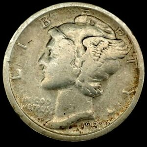 1920 P 10C MERCURY DIME 90  SILVER 18LAW1202 70 CENTS SHIPPING