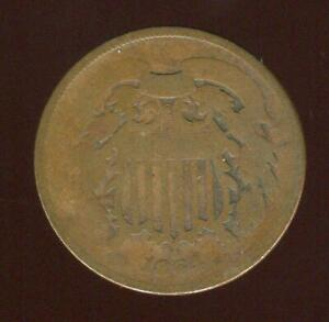 1864 TWO CENT PIECE ERROR | 180 DEGREE MEDAL ALIGNMENT | LM | ABOUT GOOD |CP2121