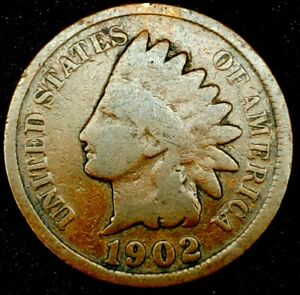 1902 P 1C INDIAN HEAD CENT 20LCT0823 70 CENTS SHIPPING
