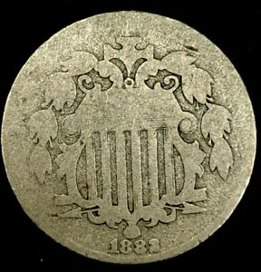 1882 P 5C SHIELD NICKEL 20OCR1023 70 CENTS SHIPPING