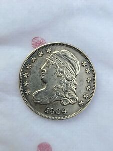 1834 CAPPED BUST DIME LARGE 4 VARIETY 10C OLD SILVER