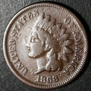 1868 INDIAN HEAD CENT WITH LIBERTY   FINE