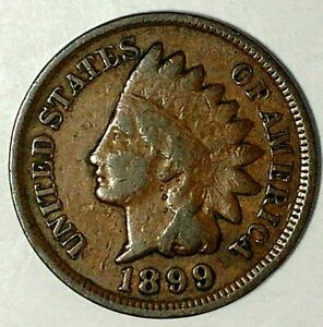 1899 P 1C INDIAN HEAD CENT 19OTT0217 70 CENTS SHIPPING