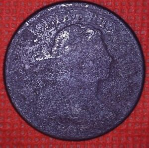 1807 DRAPED BUST LARGE CENT OLD COPPER U.S. COIN 1 C  825