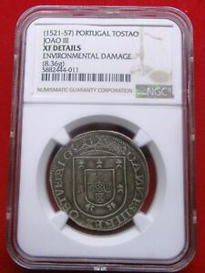 Click now to see the BUY IT NOW Price! PORTUGAL D. JOO III TOSTO SILVER COIN   GUARANTEED NGC